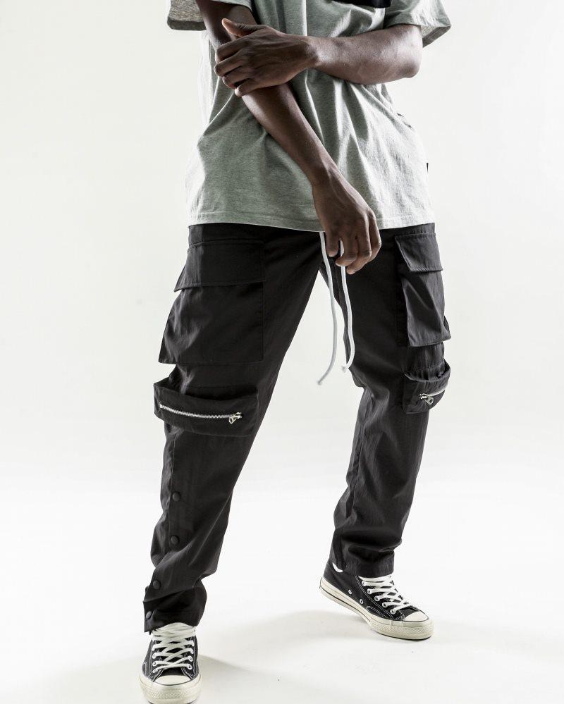 《2色》ビッグポケットサイドスナップカーゴジョガーパンツの画像2